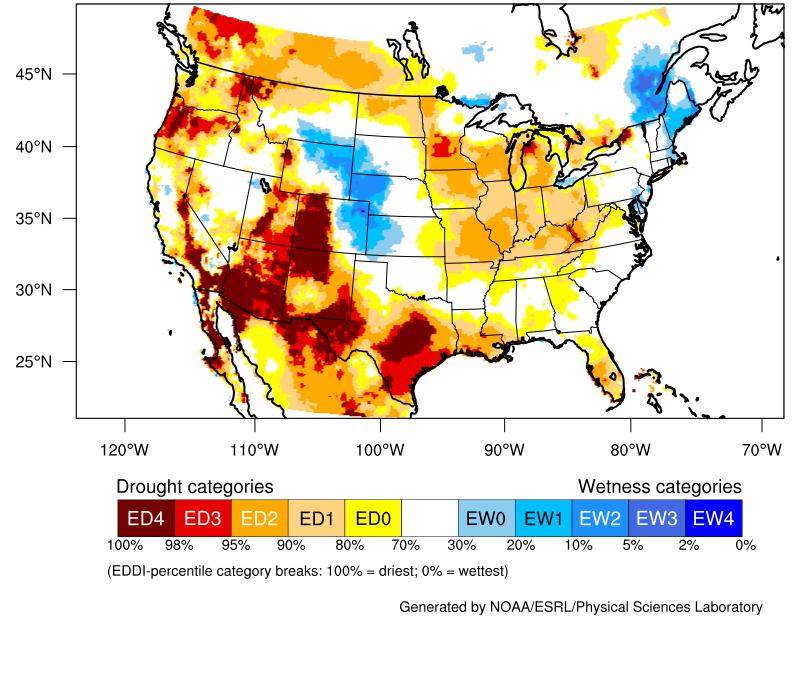 Evaporative Demand Drought Index