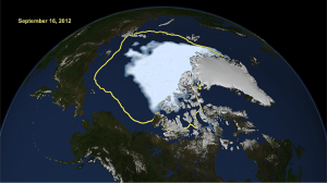 SSMR/SSMI Satellite Sea Ice for September 16 2012